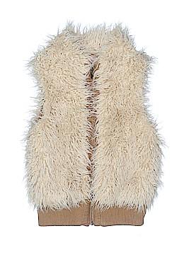Copper Key Faux Fur Vest Size 7