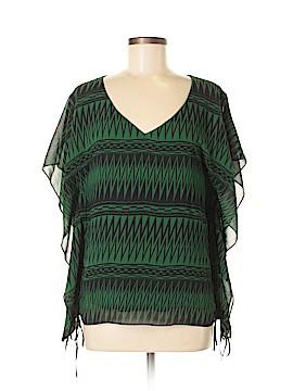 Rose & Olive Short Sleeve Blouse Size M