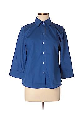 Foxcroft 3/4 Sleeve Button-Down Shirt Size 10 (Petite)