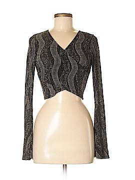Snap Long Sleeve Blouse Size M