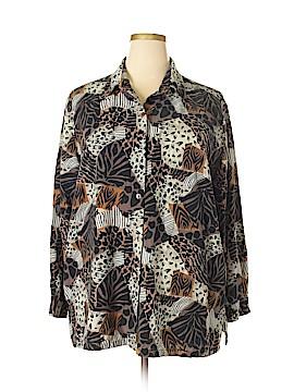 Erin London Long Sleeve Silk Top Size 3X (Plus)
