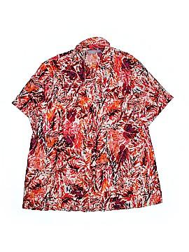 Laura Scott Short Sleeve Button-Down Shirt Size 20/22 (Plus)