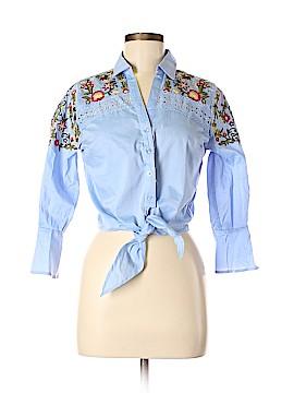 Lulumari Long Sleeve Button-Down Shirt Size S