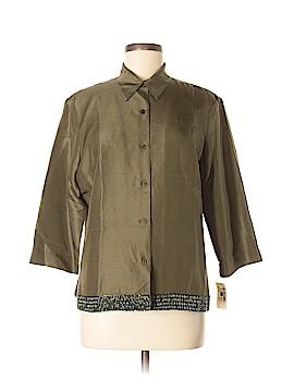 ICE 3/4 Sleeve Silk Top Size 12
