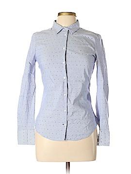 Zara Basic Long Sleeve Button-Down Shirt Size M
