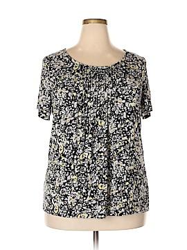 Croft & Barrow Short Sleeve Blouse Size 1X (Plus)