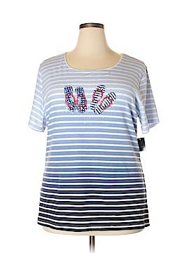 Karen Scott Short Sleeve T-Shirt Size 2X (Plus)