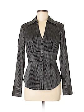 Express Design Studio Long Sleeve Button-Down Shirt Size M