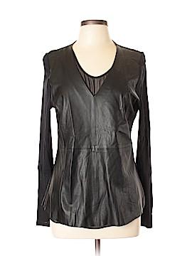 Ecru Leather Top Size L