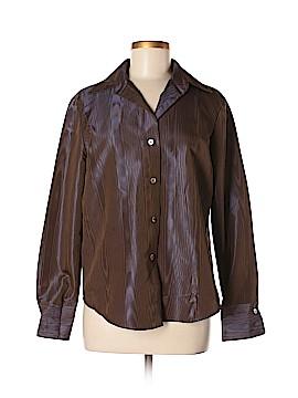 Linda Allard Ellen Tracy Long Sleeve Blouse Size 8