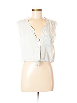 Somedays Lovin Sleeveless Button-Down Shirt Size S