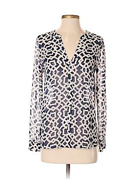 INC International Concepts Long Sleeve Blouse Size 4