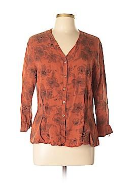 Cut.Loose Long Sleeve Button-Down Shirt Size L