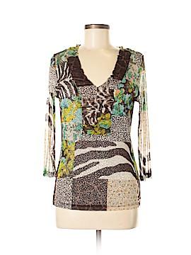 Lynn Ritchie 3/4 Sleeve Silk Top Size M