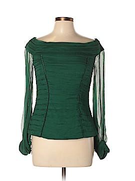 Tadashi Long Sleeve Silk Top Size 10