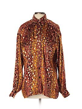 Escada by Margaretha Ley Long Sleeve Silk Top Size 40 (EU)
