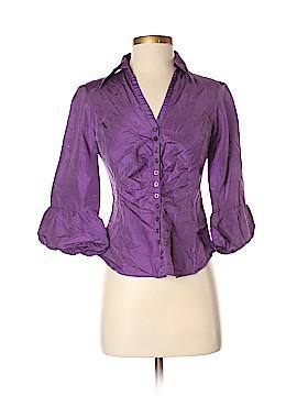 Sunny Leigh Long Sleeve Silk Top Size S