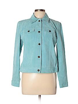 Charter Club Leather Jacket Size M (Petite)