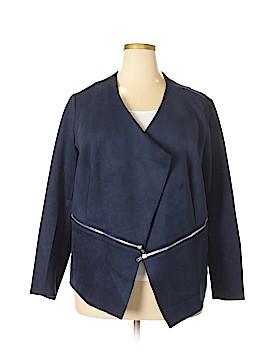 Just Fab Silk Blazer Size 2X (Plus)