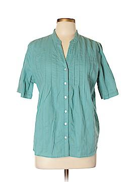 Preswick & Moore 3/4 Sleeve Button-Down Shirt Size XL