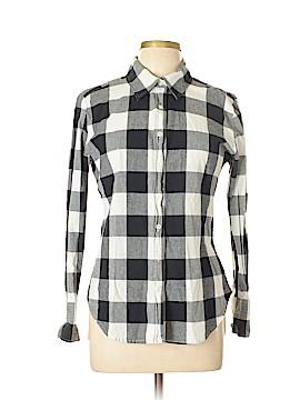 Norma Kamali for Walmart Long Sleeve Button-Down Shirt Size L