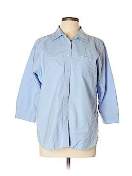 L.L.Bean 3/4 Sleeve Button-Down Shirt Size L
