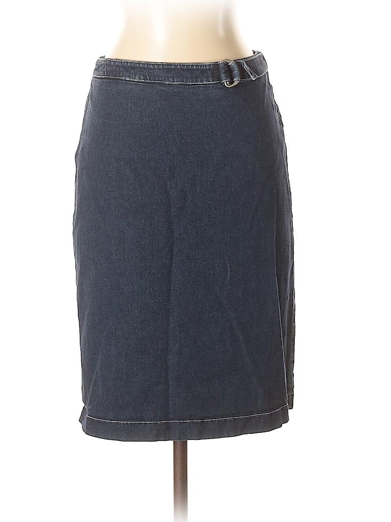 b816e27743 Ann Taylor LOFT Solid Dark Blue Denim Skirt Size 2 - 91% off | thredUP