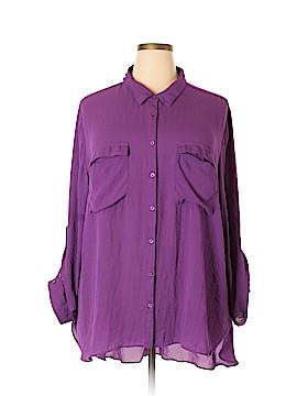 A.n.a. A New Approach Long Sleeve Button-Down Shirt Size 4X (Plus)