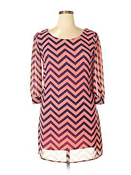 Heart Soul 3/4 Sleeve Blouse Size XL
