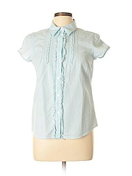 IZOD Short Sleeve Button-Down Shirt Size M