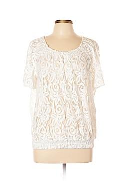 INC International Concepts Short Sleeve Blouse Size L