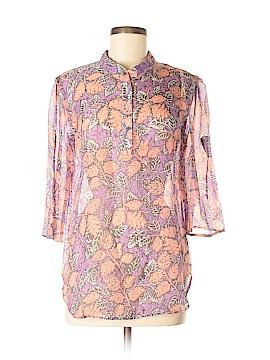 Jenny Han 3/4 Sleeve Silk Top Size L