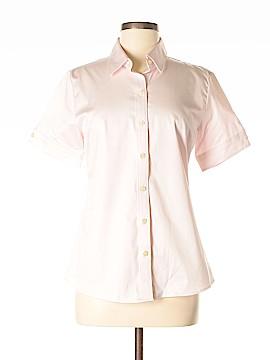Banana Republic Factory Store Short Sleeve Button-Down Shirt Size 10