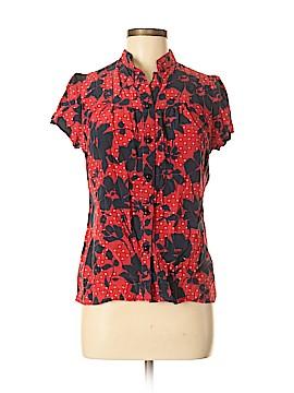 Rachel Mara Short Sleeve Silk Top Size M