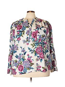 Jessica London Long Sleeve Button-Down Shirt Size 28 (Plus)