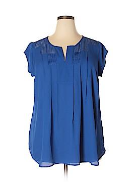Daniel Rainn Short Sleeve Blouse Size 1X (Plus)