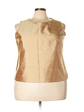 Silk Lore Sleeveless Silk Top Size 2X (Plus)