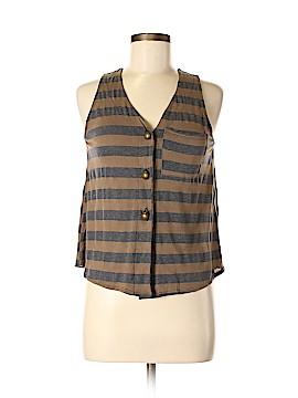 Audrey 3+1 Sleeveless Button-Down Shirt Size S