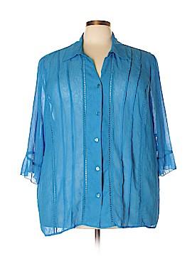 Maggie Barnes 3/4 Sleeve Blouse Size 3X (Plus)