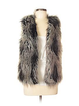 Plus Minus Time Divide Faux Fur Vest Size 10