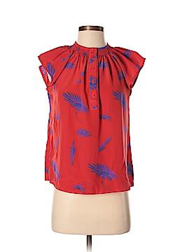 Tucker Short Sleeve Silk Top Size S