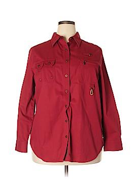 Lauren Jeans Co. Long Sleeve Button-Down Shirt Size 1X (Plus)