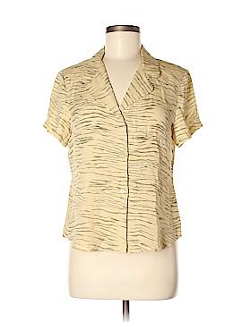 Field Manor Short Sleeve Silk Top Size 8