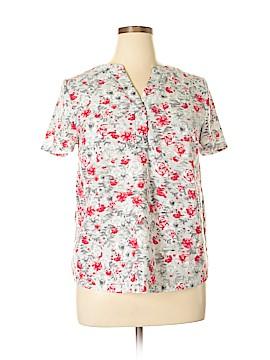 Kensie Short Sleeve Blouse Size L