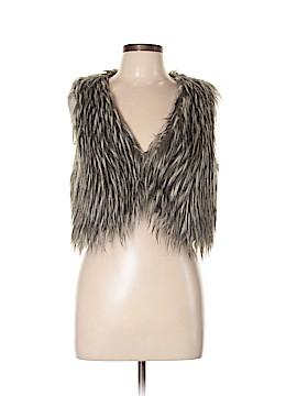 Steve Madden Faux Fur Vest Size L
