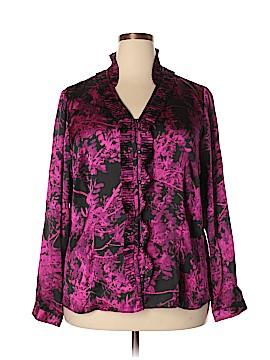 Anne Klein Long Sleeve Blouse Size 18 (Plus)