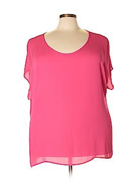 Pleione Short Sleeve Button-Down Shirt Size 3X (Plus)