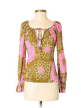 Trina Turk Long Sleeve Silk Top Size S (Petite)