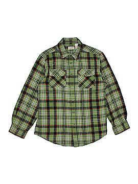 L.L.Bean Long Sleeve Button-Down Shirt Size M (Kids)