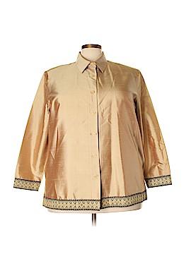 Silk Lore Long Sleeve Silk Top Size 2X (Plus)